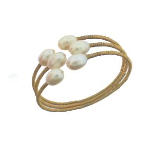 3 Row Bracelet with Pearls