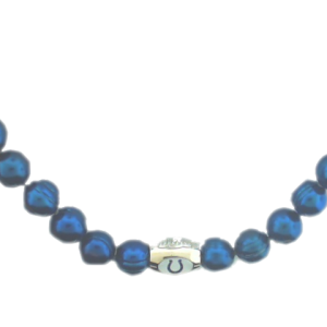 NFL Sterling Silver Blue and White Colts Pearl Necklace