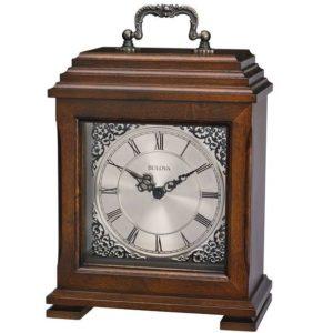 Bulova Brown Cherry Mantle Clock