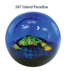 Island Paradise Paper Weight